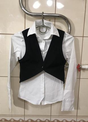 Школьная блузка школьная рубашка школьная форма на девочку 10 лет