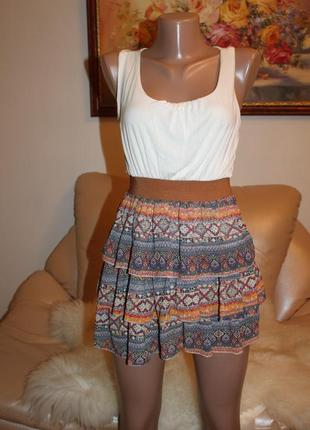 Шикарное летнее платье хит сезона, делает фигуру идеальной белый верх шиффон низ
