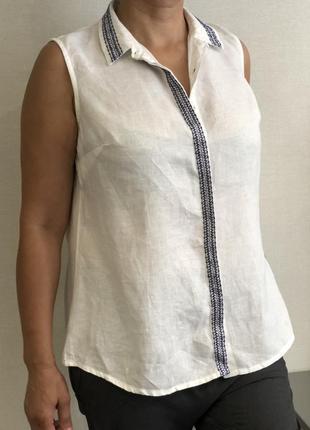 Блузка рубашка из льна