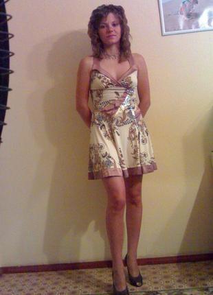 Летнее нарядное платье-сарафан