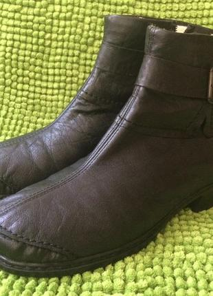 Зимние ботинки rieker, кожа , р. 40