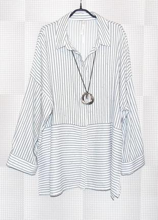 Блузка рубашка большого размера reva & ro