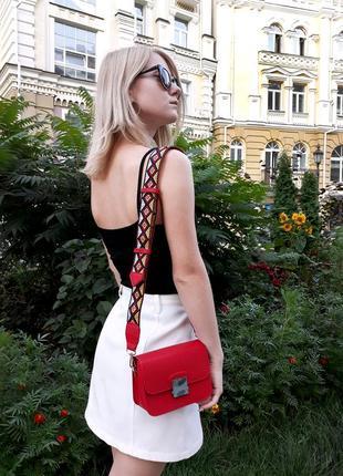 """Модная сумочка """"кросс-боди"""", широкий ремень с узором! г. киев"""
