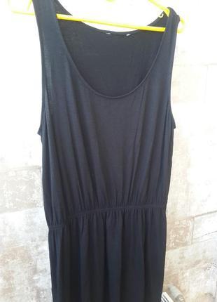 H&m черное платье миди