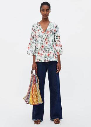 Льняная блуза от zara