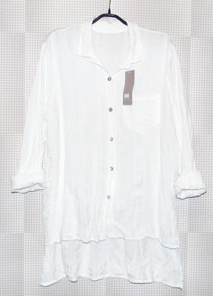 Рубашка туника блузка 100% хлопок
