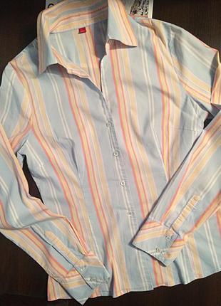 Рубашка в разноцветную полоску esprit!👍🌸🌿