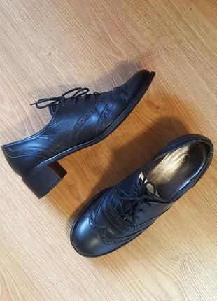 Туфли оксфорды броги gabor, кожаные