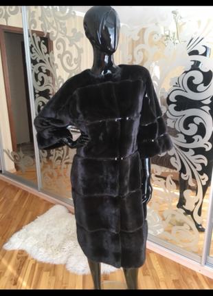 Продам итальянскую норковую шубу lux fabio gavazzi, blackglama, кокон 105 см, 42-44