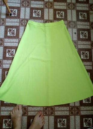 Стильная юбка миди  из плотной ткани monkii