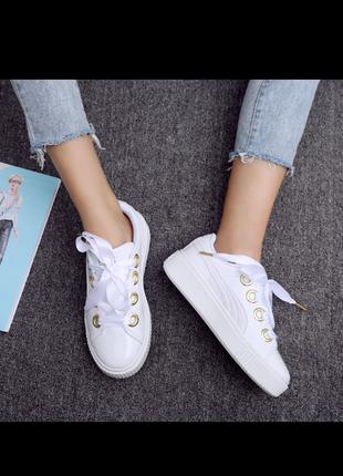 Кеды кроссовки на платформе puma - оригинал.