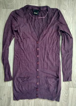 Фіолетовий подовжений кардиган / фиолетовый удлиненный кардиган ichi