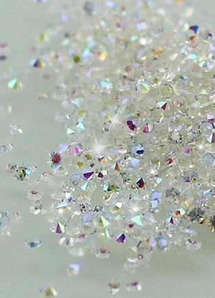 Стразы на ногти 1440 шт. хрусталь кристалы хамелеон pixie 1 мм для декора маникюра