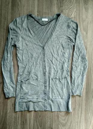 Сірий подовжений кардиган / серый удлиненный кардиган vero moda