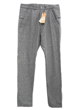 Стильные брюки из 100 шерсти р. m-l kear&ku штаны 50-52 32-33