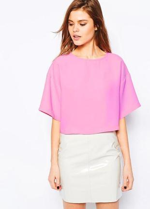 Розовая свободная блуза asos,р-р 10