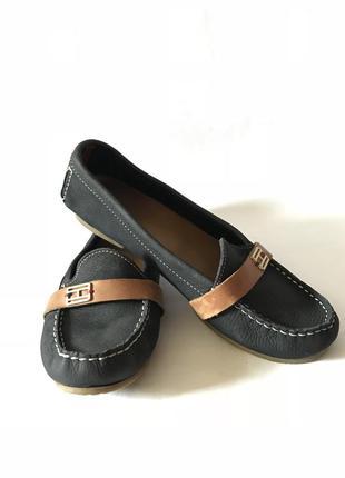 Мокасины туфли tommy hilfiger натуральная кожа