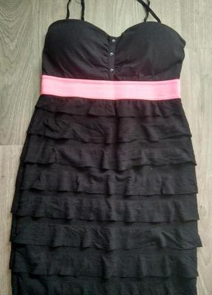 Чорне облягаюче плаття / черное обтягивающее платье tally weijl