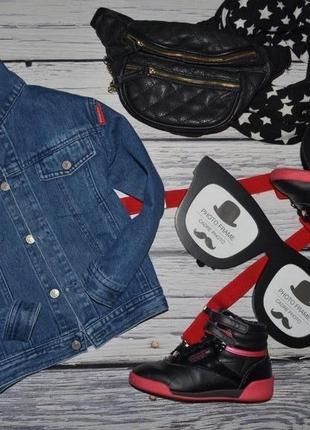 4 - 6 лет обалденный фирменный пиджак джинсовый курточка стильному парню