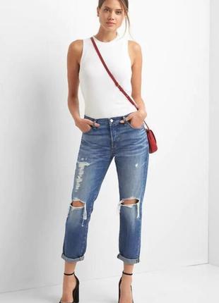 Новые рваные джинсы gap большой размер