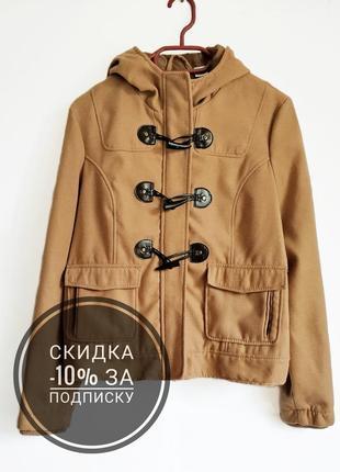 Трендовое демисезонное пальто дафлкот/ветровка/куртка с капюшоном от la redoute 🔥