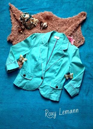 Бирюзовый пиджак oodji