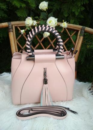 Элегантная женская сумка из натуральной кожи. италия