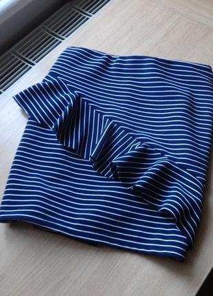 Юбка синяя в полоску с актуальными воланами от tally weijl