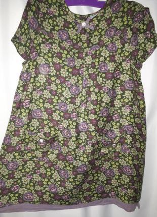 Платье в цветочек из 100% вискозы на4 - 5 лет
