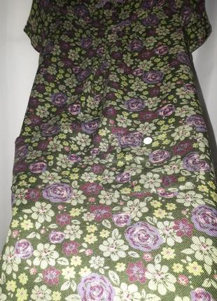 Платье в цветочек из 100% вискозы на4 - 5 лет4