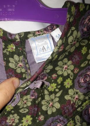 Платье в цветочек из 100% вискозы на4 - 5 лет5