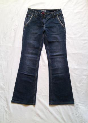 Яркие расклешенные джинсы р 36 стрейчевые