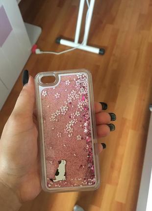 Чехол с блёстками на iphone 5/5s se