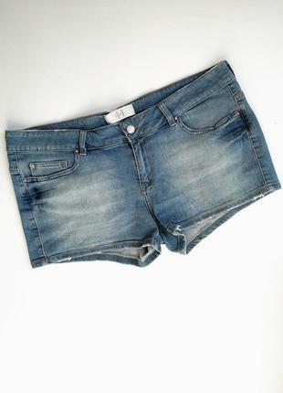 Короткие джинсовые шортики zara