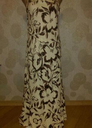 Красивое платье ,в составе лен