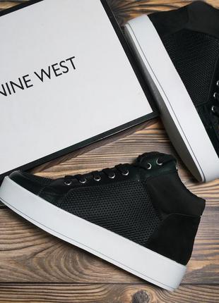 Nine west сникерсы кеды кроссовки хайтопы на платформе черные оригинал из сша