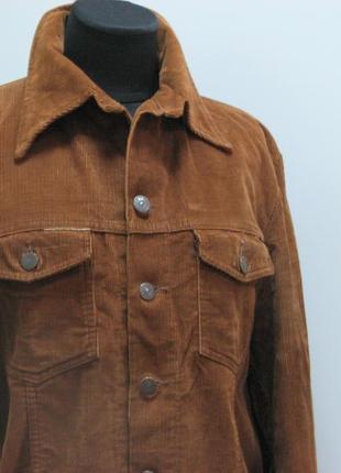 Lee cooper вельветовая коричневая курточка1 фото
