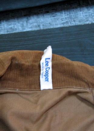 Lee cooper вельветовая коричневая курточка2 фото