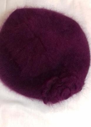 H&m берет теплый ангоровый / шапка теплая зимняя