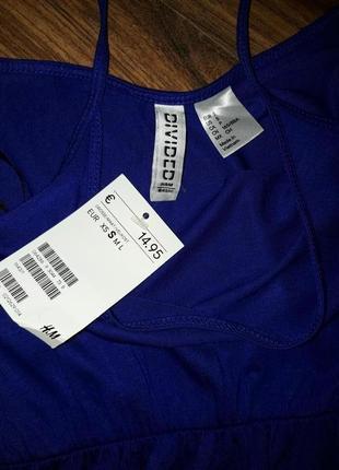 Макси платье на  бретелях h&m 100% вискоза трикотаж сарафан
