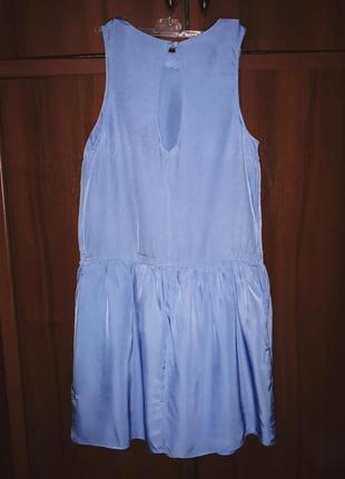 Модное стильное платье с заниженой талией и юбкой-волан от asos