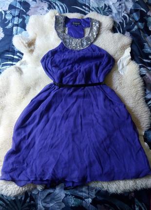 Стильное платье 100% шелк