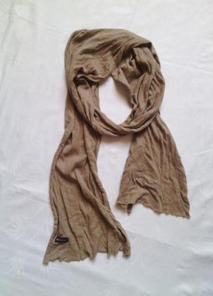 Легкий шарф трикотажный коттоновый