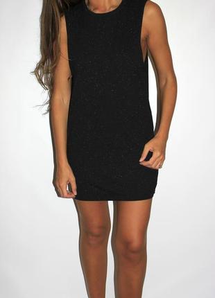 Модное платье, серый меланж -с широкой проймой- 12(s-m)