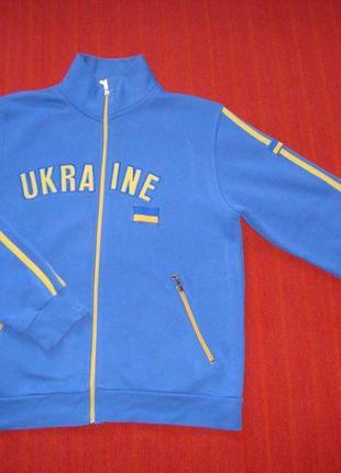 Кофта мужская спортивная голубого цвета. национальная. ukraine. размер l