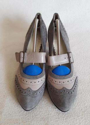 Стильные замшевые туфли фирмы eksbut (польша) р. 38 стелька 24,5 см aa9599627e4