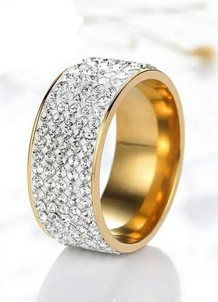 Интересное оригинальное кольцо с камешками . бижутерия . размер 18