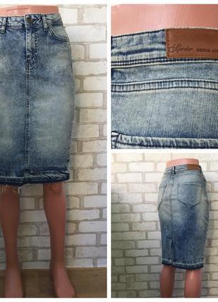 Джинсовая юбка с необработанным низом