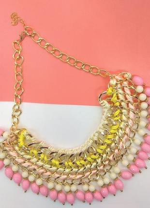 Модное ожерелье. колье бижутерия украшения подвеска