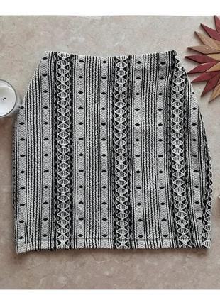 Шикарная юбка геометрический принт dorothy perkins
